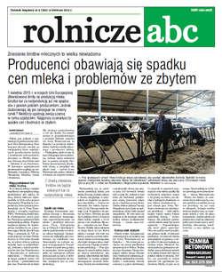 Rolnicze ABC - kwiecień 2015