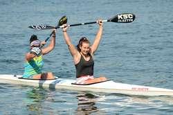 Martyna Lisiecka (z prawej) z Plastex Kayak Sport Club Olsztyn i Anna Puławska z Bazy Mrągowo