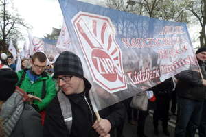 Nauczyciele z naszego powiatu wzięli udział w demonstracji