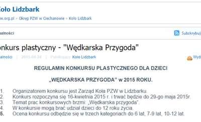 """Konkurs plastyczny - """"Wędkarska Przygoda"""""""