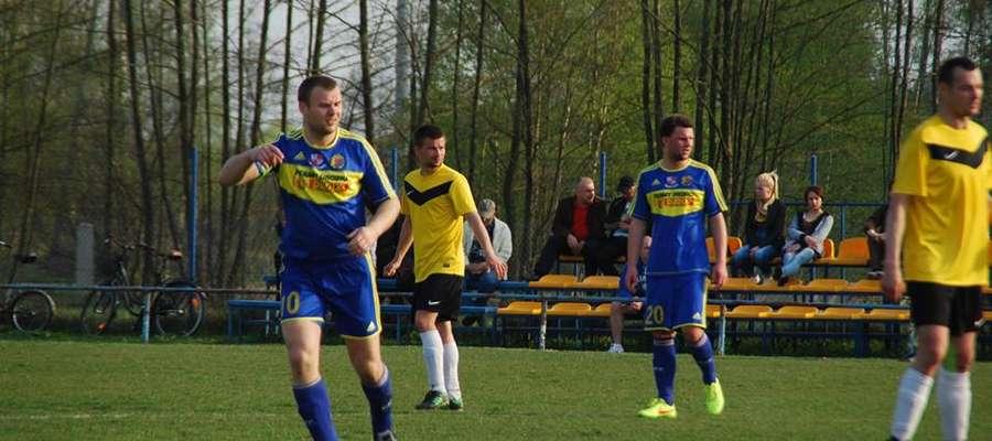 Znów popisał się Paweł Baca i zdobył 2 bramki dla drużyny z Bieżunia