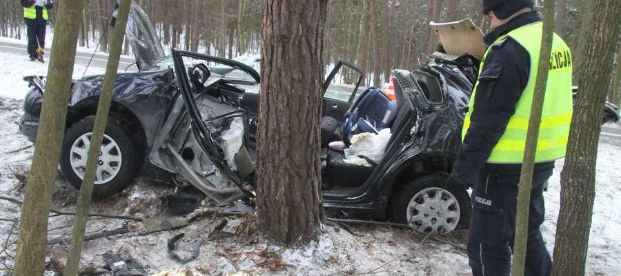 Wypadek w Trękusku (styczeń 2014). Honda civic jechała w kierunku Olsztyna. Kierowca wyprzedzał kolumnę samochodów. Podczas zjeżdżania na swój pas ruchu wpadł w poślizg i wypadł z drogi. Samochód z dużą siłą uderzył w drzewo.