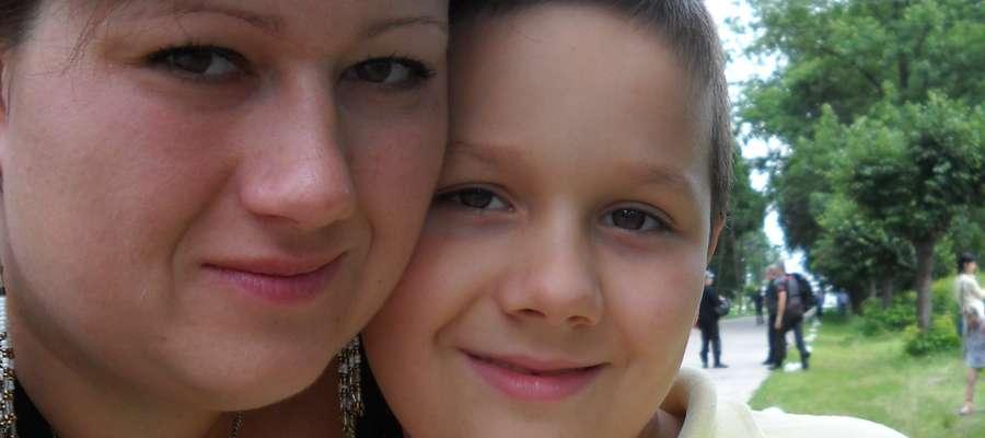 Fot. archiwum prywatne       Kuba Dąbrowskie ze swoją mamą Agnieszką