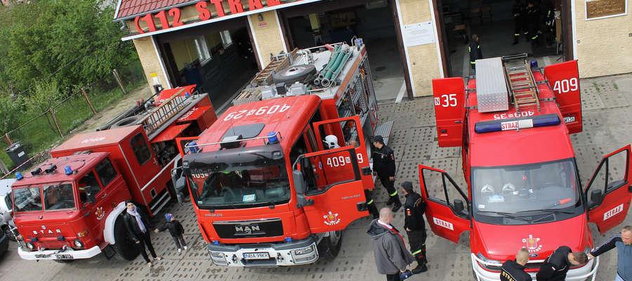Sprzęt strażaków OSP w Bisztynku będzie można obejrzeć i użyć go juz 3 maja 2015 r. od godz. 9. Zdjęcie wykonano podczas Dnia Otwartego w 2014 r.