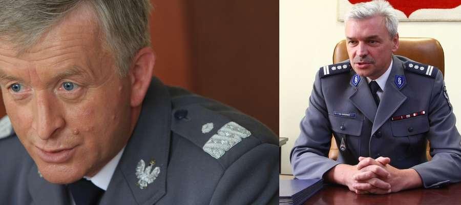 Józef Gdański (po lewej), szef warmińsko-mazurskiej policji oraz komendant miejski policji w Olsztynie Andrzej Góźdź złożyli raport o odejście z zajmowanego stanowiska