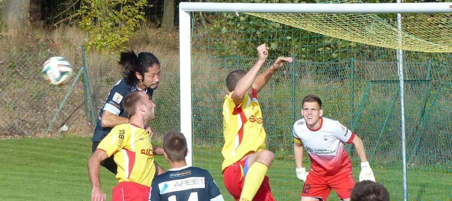 Mecz rundy jesiennej IV ligi GKS Wikielec — Stomil II Olsztyn 2:0