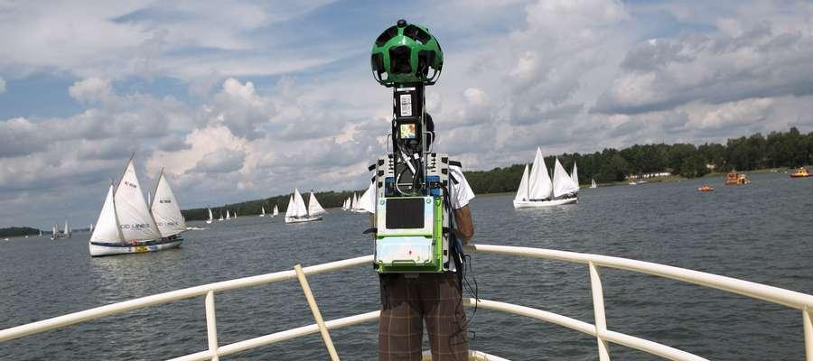 W  2014 r. zespół Google wykonał panoramiczne zdjęcia na Mazurach za pomocą specjalnego plecaka Street View - Trekkera