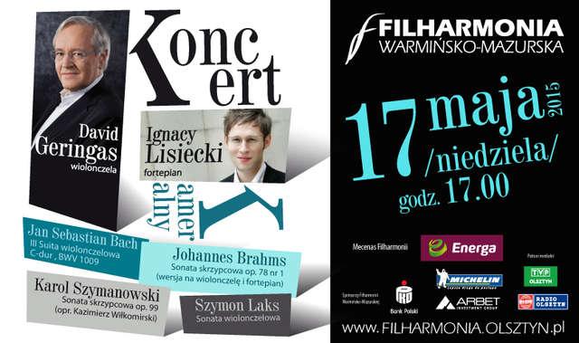 Wirtuoz wiolonczeli David Geringas i pianista Ignacy Lisiecki w Olsztynie - full image