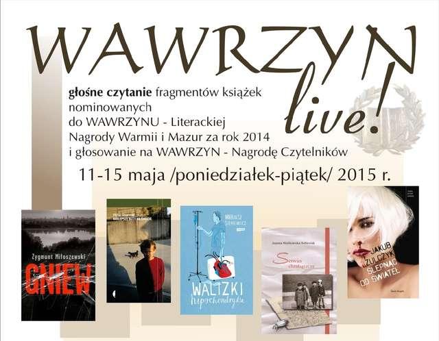 Wawrzyn live! Głośne czytanie książek nominowanych do Wawrzynu - full image