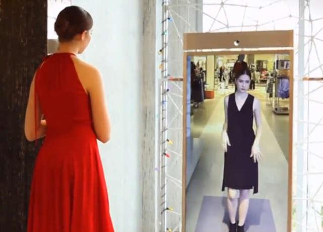 Przymierzysz ubranie bez jego zakładania - dzięki inteligentnym lustrom - full image