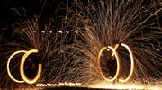 Pokaz tańca z ogniem podczas Kortowiady [Zdjęcia]