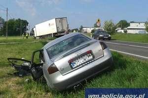 Czołowe zderzenie na DK 15. Kierowca z Białorusi aresztowany na trzy miesiące