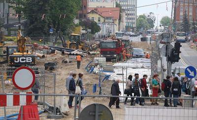 Drogowcy zamykają skrzyżowanie ul. 1 Maja z al. Piłsudskiego