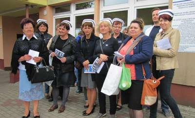 Braniewskie pielęgniarki i położne dołączyły do ogólnopolskiego protestu