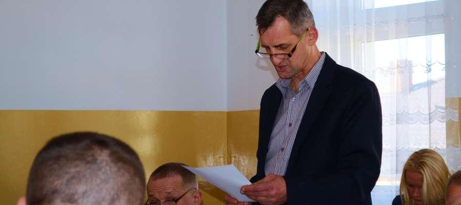 Andrzej Balicki – radny i członek zarządu OSP Rzęgnowo