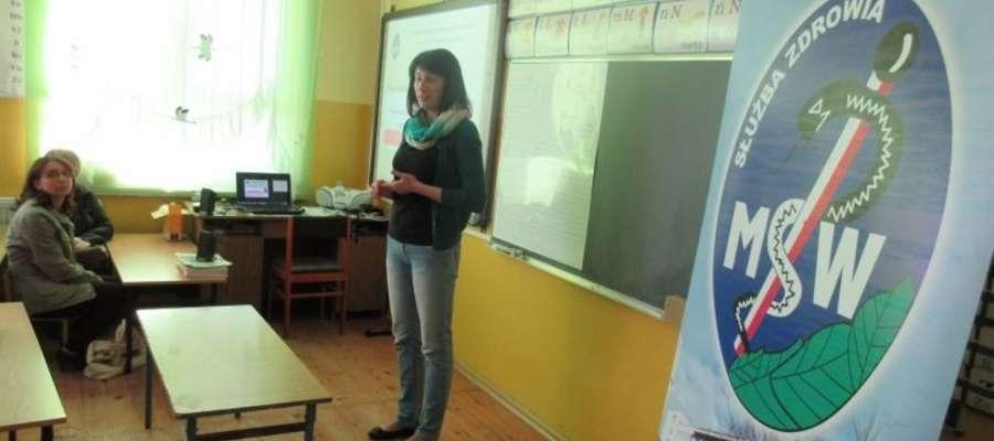 Podczas spotkania z pracownikiem olsztyńskiego szpitala MSW w Zajączkowie