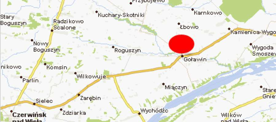Do wypadku doszło na trasie nr 62 w miejscowości Goławin