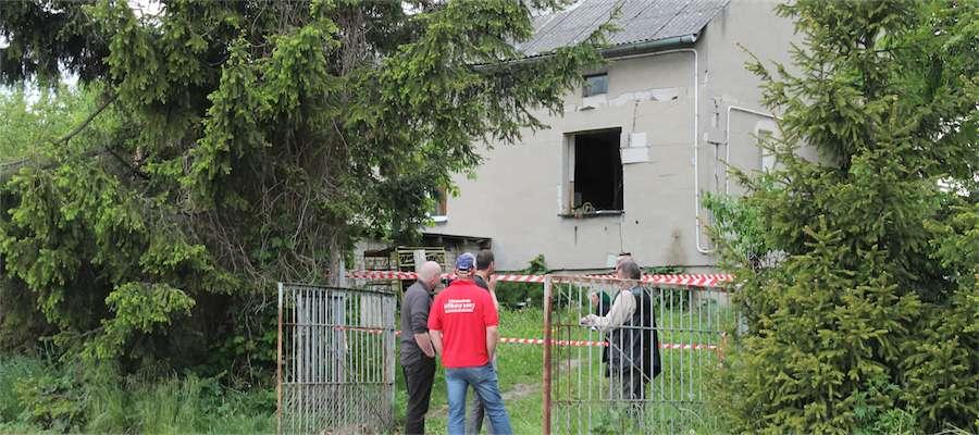 Wybuch butli z gazem uszkodził budynek w Bogaczewie
