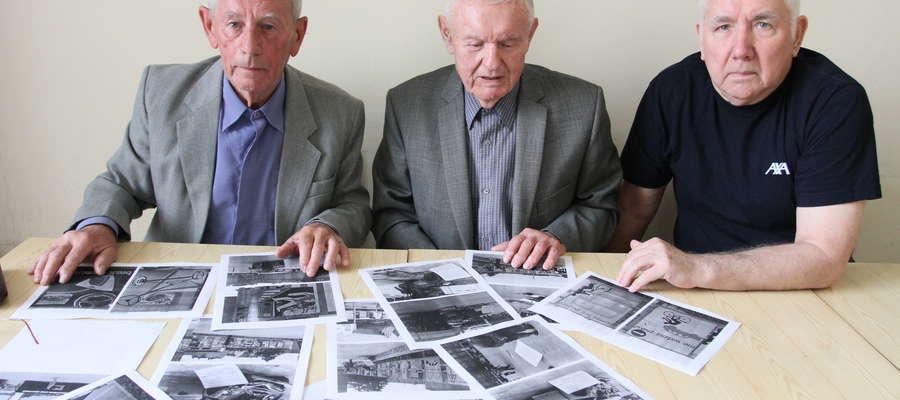 O ruchu samochodowym w latach 60. dwudziestego wieku, kiedy ulicami jeździło bardzo niewiele pojazdów, rozmawialiśmy z emerytowanymi milicjantami (od lewej): Julianem Czajką, Tadeuszem Gadzałą, Jerzym Kowalewiczem