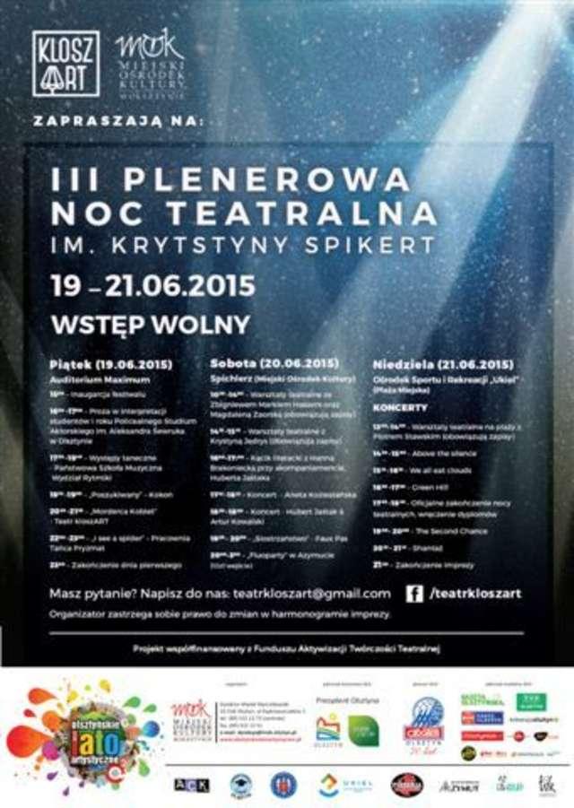 Plenerowa Noc Teatralna im. Krystyny Spikert - full image