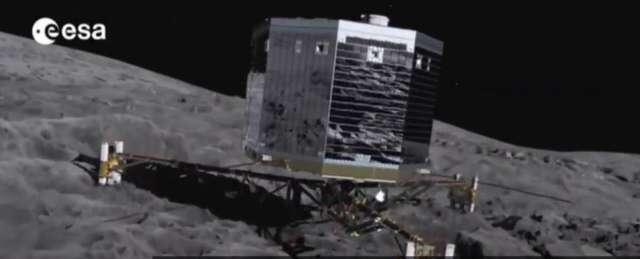 Lądownik Philae po pół roku obudził się ze snu - full image