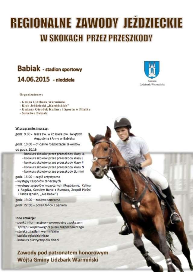 e9bc56b153e58 Regionalne zawody jeździeckie w skokach przez przeszkody - full image