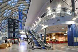 Wnętrze dworca w Poznaniu