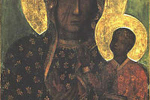 Czarna Madonna blisko Makowa