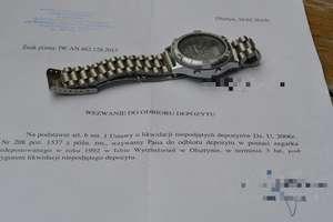 Po 23 latach odzyskał swój zegarek