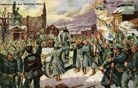 Cesarz Wilhelm II w Lycku (Ełku), 14 lutego 1915