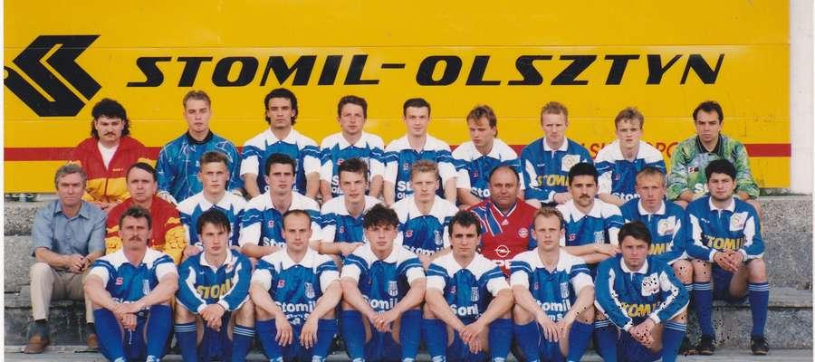 Ten skład po raz pierwszy w historii Stomilu rozpoczął grę w I lidze w sezonie 1994/1995.