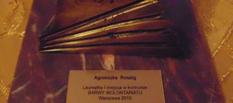 Statuetka dla Wolontariuszki 2014 roku przypadła Agnieszce Roszig.