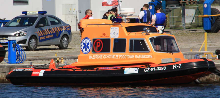 Ratownicy MOPR-u jako pierwsi szukali mężczyzny, który wpadł do Jeziora Kisajno