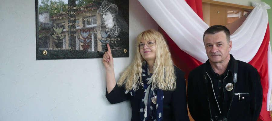 Elżbieta Mierzyńska podczas jubileuszu szkoły w Sątopach.