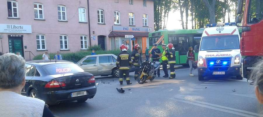 Środowe zdarzenie na skrzyżowaniu ulic Grunwaldzkiej i Czarnieckiego
