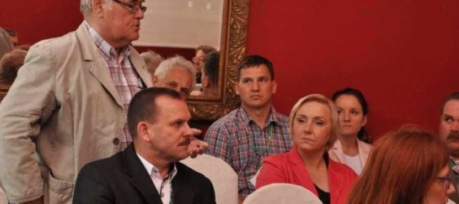 Lokalny akcent podczas konferencji. Głos zabrał Jerzy Bobrowski z Gospodarstwa Rybackiego w Iławie