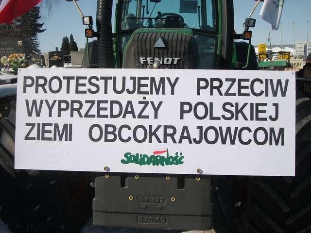 Protest rolników w Makowie Mazowieckim w 2013 roku