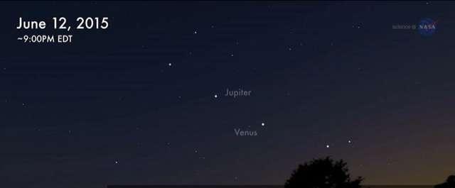Maksymalne zbliżenie Jowisza i Wenus. To zdarza się raz na 8 lat - full image