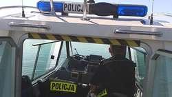 Służba policji wodnej w Mikołajkach