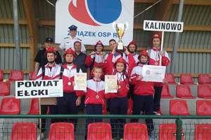Młodzieżowa Drużyna Pożarnicza chłopców z Kalinowa na 1 miejscu w województwie