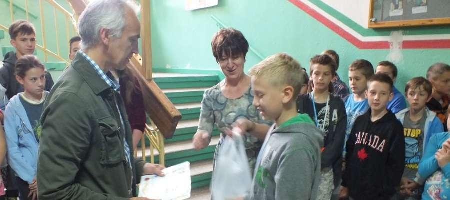 Wręczenie nagród i wyróżnień (nagrody rzeczowe i dyplomy) odbyło się w Zespole Szkół w Kisielicach