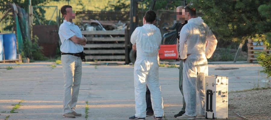 Na miejscu pracowali specjaliści z Laboratorium Kryminalistycznego KWP w Olsztynie.