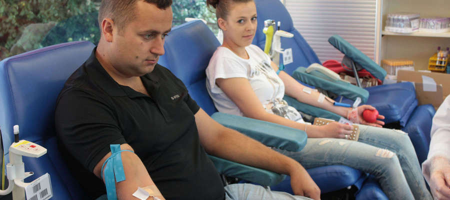 Justyna i Przemysław Lipniccy z Bisztynka własnie wstąpili do Gazetoiwego Klubu Dawców Krwi.