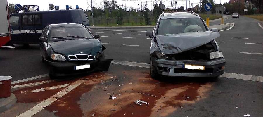 Wypadek na obwodnicy Mrągowa. Jedna osoba w szpitalu