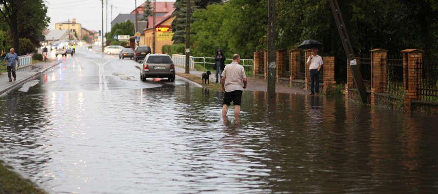 Ulica Świętego St. Kostki zamieniła się w rzekę
