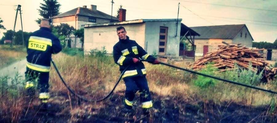 W akcji gaszenia pożaru lasu w Krępicy zaangażowani byli strażacy-ochotnicy z kilkunastu jednostek