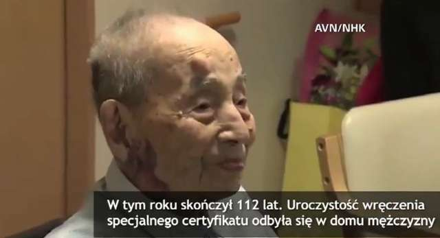 Najstarszy mężczyzna świata wpisany do Księgi Rekordów Guinnessa. Yasutaro Koide ma 112 lat - full image