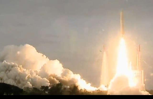 Rakieta Ariane 5 wystartowała z centrum kosmicznego w Gujanie Francuskiej. - full image
