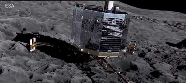 Philae znalazłna komecie 67P związki organiczne, paręwodną oraz tlenki węgla - full image