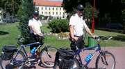 Policyjne patrole rowerowe na ulicach Pisza